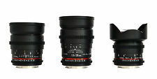 Rokinon Wide Angle Cine Lens Kit for Nikon - 35mm T1.5 + 24mm T1.5 + 14mm T3.1