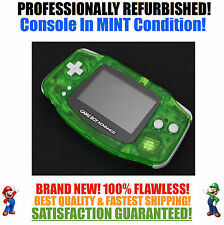 *NEW GLASS SCREEN* Nintendo Game Boy Advance GBA Clear Green System MINT NEW