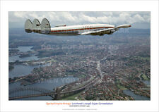 QANTAS SUPER CONSTELLATION OVER NORTH SYDNEY 1958 A3 PRINT PHOTO POSTER PICTURE