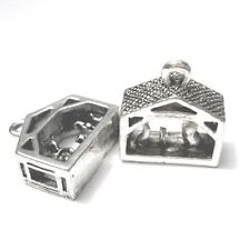 10 pieces 15x15mm Tibetan Silver Christmas House Alloy Charm Pendants - A2327