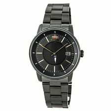 Orient ER02004B Men's Disk Automatic Gold Accents Black Dial Watch