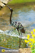 La Hacienda Metal Heron Garden & Pond Bird Animal Ornament