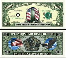 Before 9-11 2001 Dollar Bill Collectible Funny Money Novelty Note