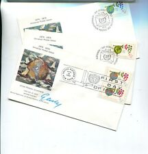 NEW YORK 1974  SCOTT 246 JANIS GAILIS AUTOGRAPH FDC UNITED NATIONS STAMP LOT 3