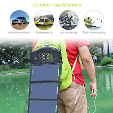 Waterproof 15W Folding Sunpower Solar Panel Battery Power Charger Pack For Phone