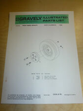 GRAVELY WHEEL WEIGHTS ILLUSTRATED PARTS LIST MANUAL