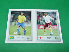 N°100 RONALDINHO 24 ASHLEY COLE PANINI FOOTBALL GERMANY 2006 MINI-STICKERS