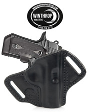 Kimber Micro 9 mm OWB No Shield Leather Holster R/H Black Item # 1173