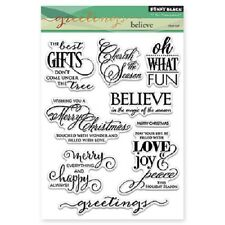 PENNY BLACK RUBBER STAMPS CLEAR BELIEVE STAMP SET NEW 2015