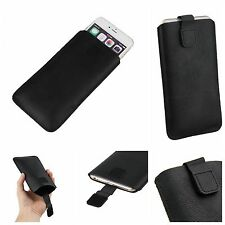 PU Leather Pull Tab Cover Case Pouch Sleeve For Apple Various Mobile Phone