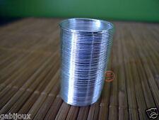 Anello armonico color acciaio Bijoutteria 25mm filo 0,5mm nichel free 20 giri