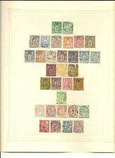 Francia. Conjunto de 146 sellos años 1876-1914. Diferentes Tipos