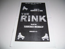 2010 MUSICALS TONIGHT! 79TH STREET THEATER PLAYBILL- THE RINK - GARDNER PERLMAN
