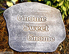 gnome plaque plastic garden casting plaque mold mould  see more in my store