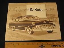 1953 DeSoto Car Folder Dealer Sales Brochure