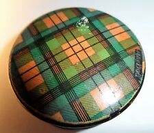 ANTIQUE SMALL LIDDED PATCH OR SNUFF BOX TARTANWARE McDUFF