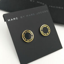 Marc by Marc Jacobs  'Classic Marc' Enamel Logo Disc Stud Earrings  GOLD /BLACK