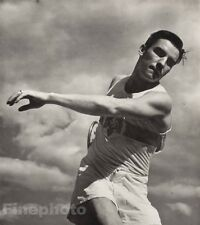 1936 OLYMPICS Erwin Huber Germany Discus Decathlon Track Field LENI RIEFENSTAHL
