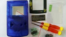 HOUSING POUR GAMEBOY COLOR PIKACHU CLEAR BLUE NEW