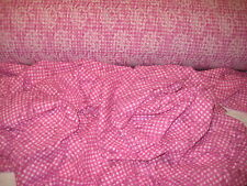 """PINK/WHITE GINGHAM PRINT ON 4 WAY STRETCH FLORAL LACE FABRIC 58"""" WYDE BTY"""