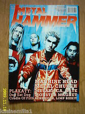 MACHINE HEAD on front cover Metal Hammer 8/1999 Polish magazine