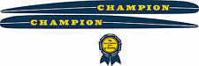 Vintage antique 1948-1950s CHAMPION OUTBOARD MOTOR Decal Set