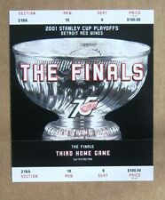 Red Wings Game ticket stub 2001 Stanley Cup The Finals Third Home Game $100