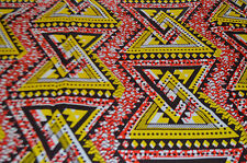 AFRICAN PRINT FABRIC - 100% COTTON  - 6 YARDS