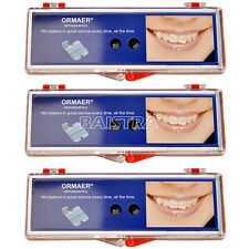 "3Kits ORMAER Orthodontic Ceramic Brackets Braces MBT .022"" 5*5 with 3-4-5 Hook"