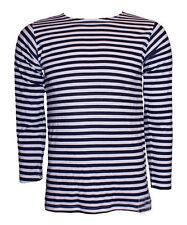 t-shirt MAGLIETTA  MARINAIO TELNIASHKA PRODUZIONE RUSSIA COTONE 100% BIANCA BLU