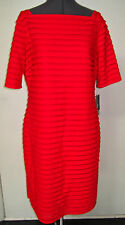 SEXY NEW SD COLLECTION RED RUFFLE STRETCH KNIT DRESS BODYCON SIZE 14 NWT $149