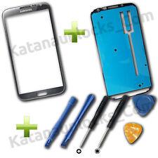 Vitre écran Samsung Galaxy Note 2 n7100 Gris avec adhésif et Outils