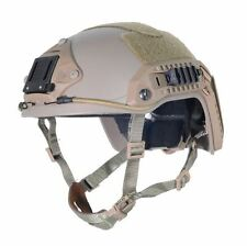 AIRSOFT OPS TAN SAND DE SWAT TACTICAL MARITIME ABS HELMET JUMP RAIL L/XL
