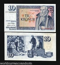 ICELAND 10 KRONUR P48 1961 BOOK OLD HOUSE UNC CURRENCY MONEY BILL BANK NOTE