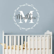 Customise Initial & Baby Boy Name Nursery Room Mural Sticker Vinyl Decal Decor