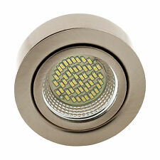 ROUND 7cm WARM WHITE LED SURFACE MOUNT KITCHEN UNDER CABINET CUPBOARD LIGHT