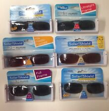 Wholesale Lot: 100 Solar Shields Polarized Clip-On Sunglasses 8 Styles New!