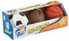 Pro Ball Set Toys Kids Boys Soccer Basketball Football Indoor Outdoor Game New
