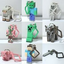 4'' 10cm Lot 10 Minecraft Hanger Creeper Figure Backpack Keychain Clip 3D Toys