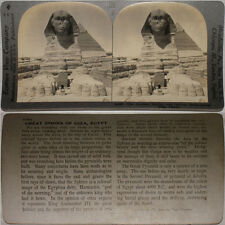Keystone Stereoview Excavations at THE SPHINX, Giza, EGYPT 600/1200 Card Set T1