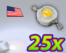 [25x] 1W Cool White High Power LED Lamp Beads 80-110Lm 1 Watt - Ships FAST USA!