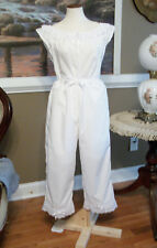 CIVIL WAR DRESS VICTORIAN UNDERPINNINGS WHITE COTTON OPEN CROTCH PANTALETTS~NEW