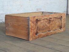 alte Schublade Schubkasten Holzkiste Ablage Biedermeier Birke Vintage Box 60s