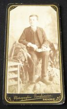 ORIGINAL CABINET PHOTO DAUPHINOISE GRENOBLE FRANCE CIRCA 1880 VICTORIAN BOY