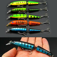 Lot 5pc Multi-jointed Minnow Fishing Lures Bait Swimbait CrankBait Tackle Lure