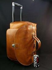 "Vintage Ghurka Box Grain Leather 19"" Wheeled Duffle Carry-On Cabin Luggage Bag"