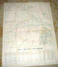 LARGE VINTAGE MAP OF CITY OF GRANT PASS JOSEPHINE COUNTY OREGON 1966