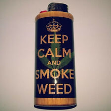 Keep Calm And Smoke Weed Bic Lighter Case Marijuana Ganja Holder Sleeve Cover