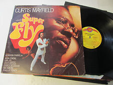 Curtis Mayfield Super Fly Record LP Motion Picture Soundtrack '72 Orig Die-Cut !