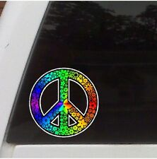 Rainbow Peace Symbol Car  Decal Laptop Sticker Truck  Decal Funny  Sticker